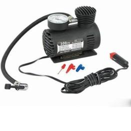 Φορητή τρόμπα αυτοκινήτου 12V 300PSI, ιδανική για ελαστικά, φουσκωτά, μπάλες με Μανόμετρο