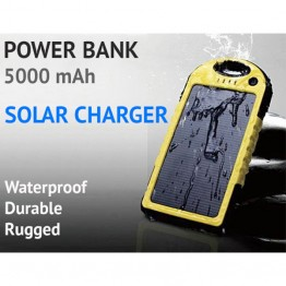 Φορητός Ηλιακός Φορτιστής USB Powerbank 5000mAh ES5000