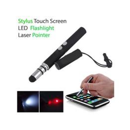 Touch Screen Stylus Pen με Φακό led και laser Pointer για όλες τις Οθόνες Αφής