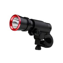 Φακός Ποδηλάτου Υψηλής Φωτεινότητας CREE LED 3W - 200 LM με βάση στήριξης