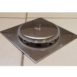 Ανοξείδωτο Στεγανό Σιφόνι Μπάνιου Τύπου Pop Up - Ταψάκι 15x15cm με Σιφόνι 11cm