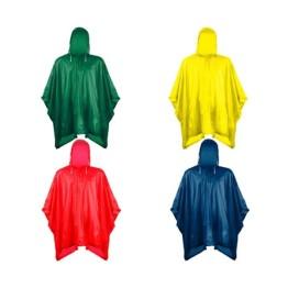 Αδιάβροχο τσέπης πολλαπλών χρήσεων με κουκούλα - 4 τεμάχια