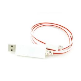 LED Φωτιζόμενο USB Καλώδιο Φόρτισης & Data για Android Συσκευές