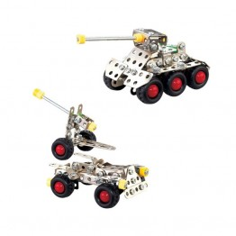 Nuts & Bolts Μεταλλικά Συναρμολογούμενα Οχήματα - Τανκ, Αμάξι, Τρέιλερ με Κανόνι