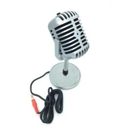Ρετρό Μικρόφωνο Ηχογραφήσεων με Βάση για Υπολογιστή Feinier FE-K19