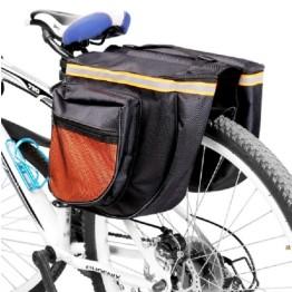 Διπλή Βαλίτσα-Τσάντα για το Ποδήλατο 33x28x9cm με Ανακλαστικές λωρίδες