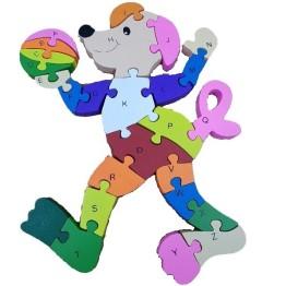 Ξύλινο Παζλ Σκυλάκι Rainbow 26 Τεμαχίων