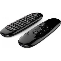 Επαναφορτιζόμενο πληκτρολόγιο, ποντίκι και τηλεκοντρόλ για Smart TVs - Air Mouse C120