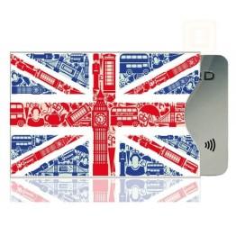Θήκη Πιστωτικής Κάρτας Για Προστασία των Ανέπαφων Συναλλαγών RFID/NFC - British