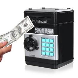 Ηλεκτρονικός Κουμπαράς Χρηματοκιβώτιο με Κωδικό Ασφαλείας - Coins and Bills Bank Safe