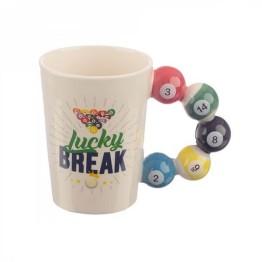 Κούπα με λαβή σε σχήμα Μπάλες Μπιλιάρδου - Pool Balls Mug