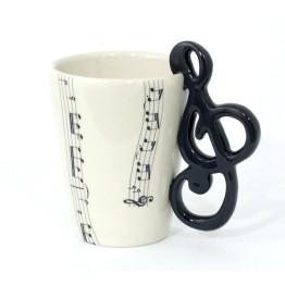 Κούπα με λαβή σε σχήμα Κλειδί του Σολ - Treble Clef Mug