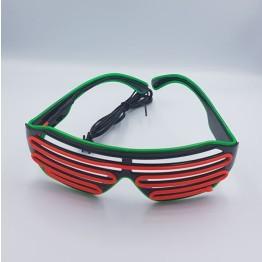 Γυαλιά με Διπλό led φωτισμό για Πάρτυ Πορτοκαλί