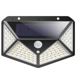 Ηλιακό Επιτοίχιο Φωτιστικό με Ανιχνευτή Κίνησης 100 LED