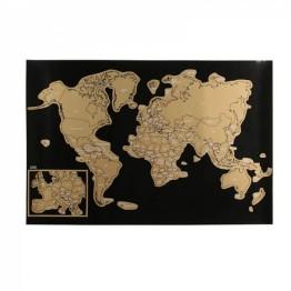 Deluxe Ξυστός Παγκόσμιος Χάρτης 60x40εκ. - Εκεί που έχω ταξιδέψει εγώ!