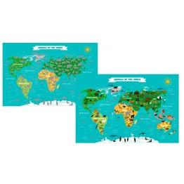 Παγκόσμιος Χάρτης με Ζώα - Animal Scratch Map