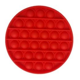 Anti Stress Fidget Bubble Pop Αγχολυτικό Παιχνίδι Κύκλος Κόκκινο