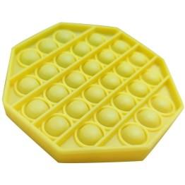 Anti Stress Fidget Bubble Pop Αγχολυτικό Παιχνίδι Οκτάγωνο Κίτρινο