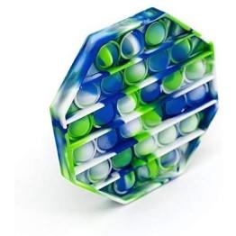 Anti Stress Fidget Bubble Pop Αγχολυτικό Παιχνίδι Οκτάγωνο Marble Μπλε-Πράσινο