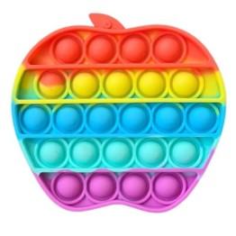 Anti Stress Fidget Bubble Pop Αγχολυτικό Παιχνίδι Μήλο Rainbow