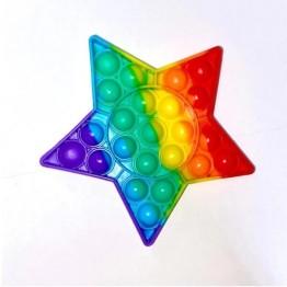 Anti Stress Fidget Bubble Pop Αγχολυτικό Παιχνίδι Αστέρι Rainbow