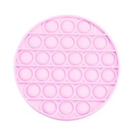 Anti Stress Fidget Bubble Pop Αγχολυτικό Παιχνίδι Κύκλος Ροζ Glow