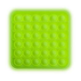 Anti Stress Fidget Bubble Pop Αγχολυτικό Παιχνίδι Τετράγωνο Πράσινο Glow