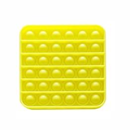 Anti Stress Fidget Bubble Pop Αγχολυτικό Παιχνίδι Τετράγωνο Κίτρινο Glow