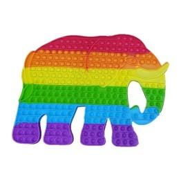 Super Jumbo Fidget Pop it Αγχολυτικό Παιχνίδι Ελέφαντας Γιγαντοτεράστιος Rainbow