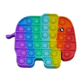 Anti Stress Fidget Bubble Pop Αγχολυτικό Παιχνίδι Ελεφαντάκι Rainbow
