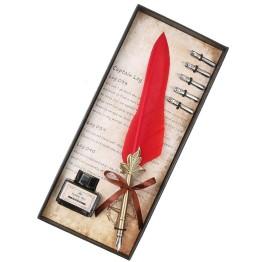 Πένα Κονδυλοφόρος Κόκκινο Φτερό με 5 Ανταλλακτικές Μύτες