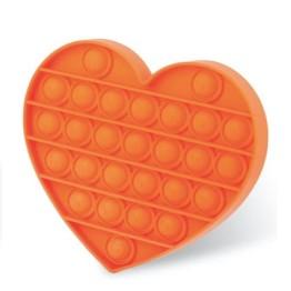 Anti Stress Fidget Bubble Pop Αγχολυτικό Παιχνίδι Καρδιά Πορτοκαλί