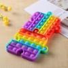 Anti Stress Fidget Bubble Pop Αγχολυτικό Παιχνίδι Κομμάτι Παζλ Rainbow