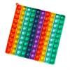 Jumbo Fidget Bubble Pop Αγχολυτικό Παιχνίδι Τετράγωνο Rainbow