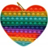 Jumbo Fidget Bubble Pop Αγχολυτικό Παιχνίδι Καρδιά Rainbow