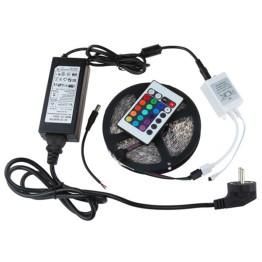Αδιάβροχη Ταινία LED 5 μέτρων RGB με τηλεχειριστήριο