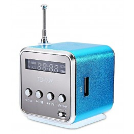 Μίνι Φορητό Ηχείο 80dB Με Ενσωματωμένο Ραδιόφωνο Και Είσοδο MicroSD/USB