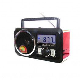 Φορητό Ραδιόφωνο FM & Music Player - Recorder with USB/SD card - XBass Speaker FP-910-RC