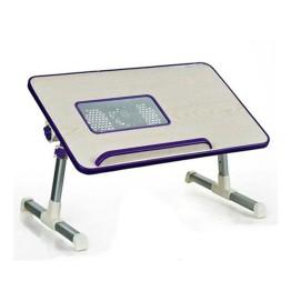 Εργονομικό Τραπεζάκι Laptop MDF με Πόδια Αλουμινίου, Ρυθμιζόμενο Ύψος & Ανεμιστήρα