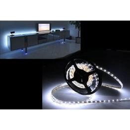 Σετ Αδιάβροχη Ταινία LED 5 μέτρων White 60SMD 4,8W SuperBright 12V με τροφοδοτικό