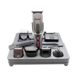 Σετ Κουρευτικής και Ξυριστικής Μηχανής για Μαλλιά και Γένια 8 σε 1 Kemei KM-680A