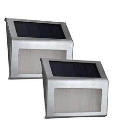Σετ 2 ηλιακά φώτα εξωτερικού χώρου LED για σκάλες