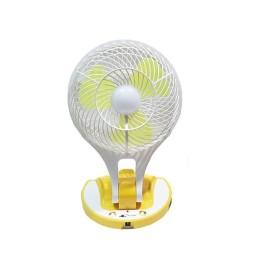 Φορητός Ανεμιστήρας 17cm Με Ισχυρό Φωτιστικό LED 200 Lumens