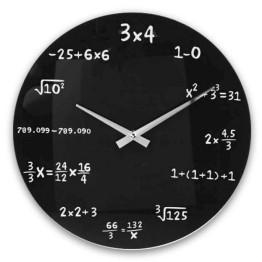 Ρολόι Τοίχου Μαθηματικά