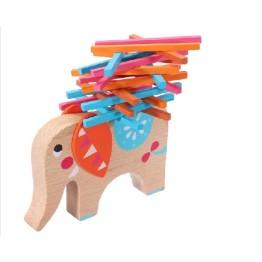 Εκπαιδευτικό Ξύλινο Παιχνίδι Δεξιοτήτων - Ντάμπο ο Ελέφαντας