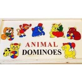 Ξύλινα Παιδικά Ντόμινο Σετ 28 Τεμαχίων