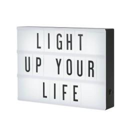 Φωτιζόμενος Πίνακας Μηνυμάτων Light Box Α4 με 100 Κάρτες