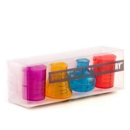 Πλαστικά Ποτήρια για Σφηνάκια Chemistry Σετ των 4