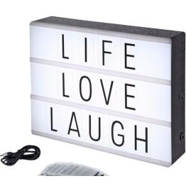 Φωτιζόμενος Πίνακας Μηνυμάτων Ρεύματος Light Box Α4 με 90 Κάρτες