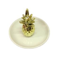 Διακοσμητικό Πιατάκι με 3D Σχέδιο Ανανάς για τα Κοσμήματα